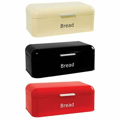 Bread Bin Curved Steel Kitchen Top Storage Roll Loaf Retro Container Box