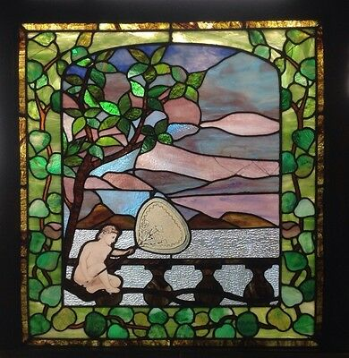 Stunning Scenic Stainded Glass Window