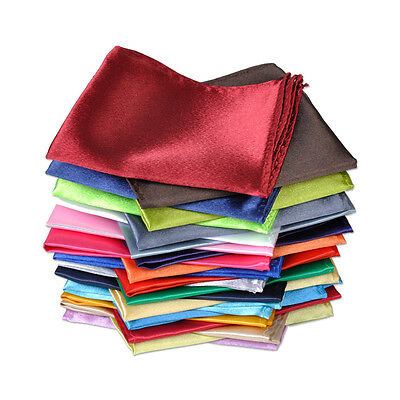 26 Pcs Men Handkerchief Silk Pocket Square Paisley Polka Hanky Wedding 26 Color