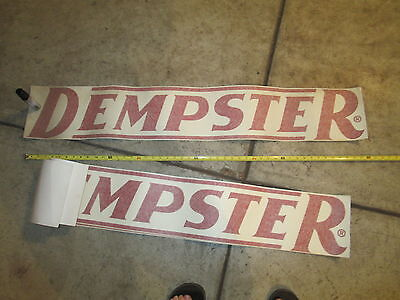 """Dempster Windmill Decal, Large Script, 48"""" Wide by 8"""" Tall"""