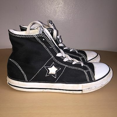 Black Converse One Star Hi-tops Size Uk 3.5