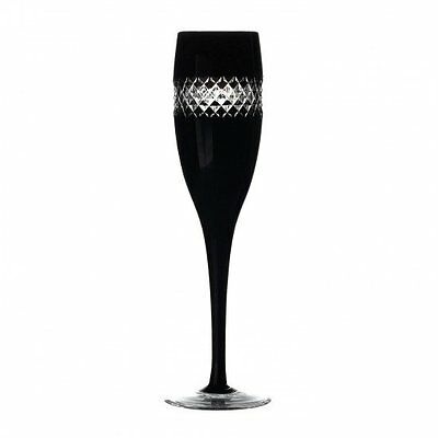 Waterford Crystal John Rocha Black Cut Champagne Flute/ Flutes Brand New