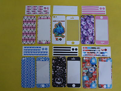 Apple iPhone 5 5S Skin Vinyl Sticker Kit Back & Front Decal Protect Cover Film