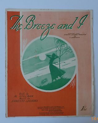 Vintage Sheet Music: The Breeze And I by T Camarata