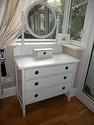 Pretty Vintage Painted Dressing Table Drawers Shabby Chic