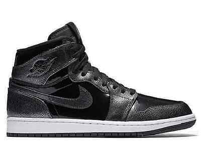 NEU Nike Air Jordan 1 Retro High LTD Patent Leather Sneaker Schwarz 332550 017