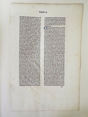Leaf from the First Jenson Bible - 1476 A.D.