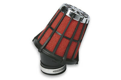 Honda Universal Malossi E5 Angled Chrome Red Air Filter 38mm PHBL