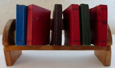 Book Shelf Rack & Individual Books Dolls House Miniature Accessory