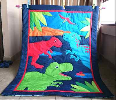 Boy Pattern New Dinosour Comforter/Quilt/Blanket for Cot and Toddler Bed