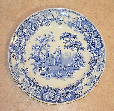 Vintage Mint Condition Never Used Spode Blue Room Girl At Well Collectors Plate
