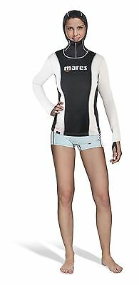 Mares Ladies Long Sleeve Hooded FIRESKIN Undersuit Vest Top - OFFICIAL UK DEALER