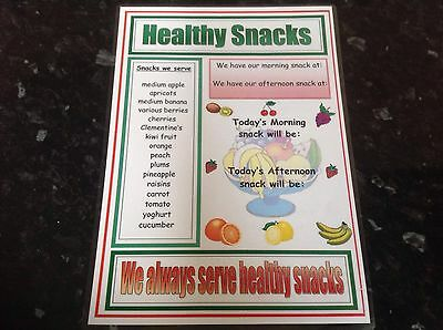 primary educational resource SNACK TIME POSTER HEALTHY EATING ks1 ks2 eyfs sen
