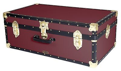 WINE Traditional British Mossman Made Vintage Classic Car Luggage Storage Trunk