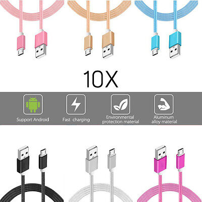 10x LOT Rapid Charge Micro USB Cable Fast Charging Cord For Samsung Android Bulk