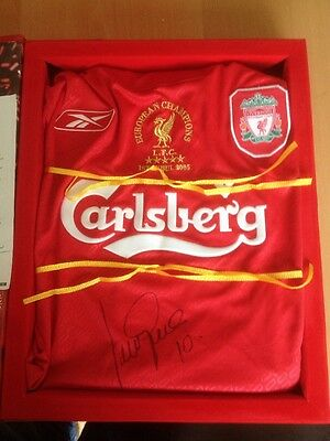 Limited Edition Boxed Liverpool Shirt Champions League 2005 Signed Luis Garcia