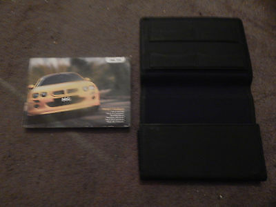 Mg Zr Owners Manual Handbook With Wallet