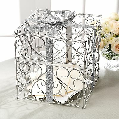 Silver Wedding Reception Gift Card and Money Box