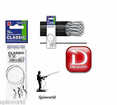 Dragon Spinning Leaders  SURFLON 25cm /12kg. AFW 1x19 classic 2pcs in pack