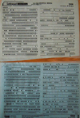 LETRASET Sheets Rub On Letter Transfers HELVETICA MEDIUM 12pt (#1568) used