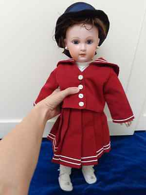 Antike Puppe BEBE Jumeau c1907 blaue Paperweightaugen Perl-Ohrringe antique doll