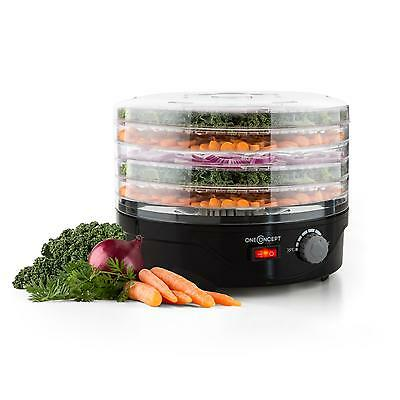 Oneconcept Food Drying Machine Crispy Vegetables Fruits Dishwasher Safe 250 W