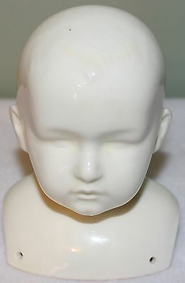 Porcelain / Ceramic Unpainted and Glazed Doll Head
