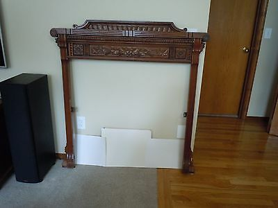 Stunning Walnut Antique Late 1800's frame : For Fireplace surround  or mirror