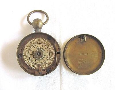 Watchmans Brass Clock Antique J.E. Buerk Watchclock Boston Mass 1800s