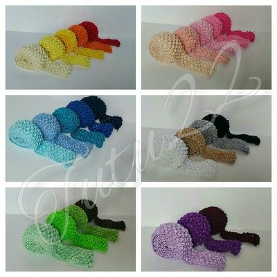 """1.5"""" stretch headband fabric crochet elastic by the metre ideal for tutus"""
