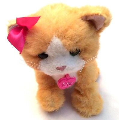 FUR REAL Friends Orange KITTY CAT DAISY Play With Me Kitten Interactive Plush