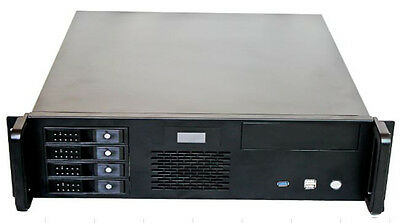 X-Case X348-C4 LCD. Short 3u with 4 Hotswap bays