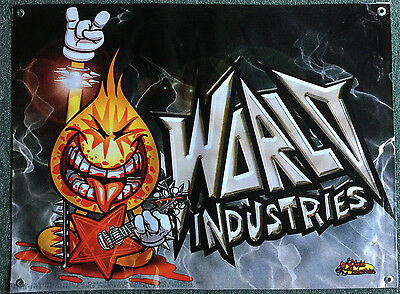World Industries skateboard banner figure display poster no toy board complete