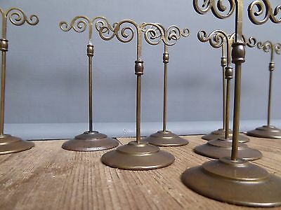 Beautiful Collection Of Antique Vintage Brass Jeweller's Display Stands