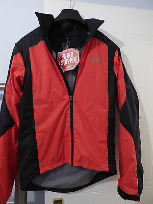 NEW GORE PATH WINDSTOPPER ACTIVE SHELL CYCLING JACKET / GILET Size S RRP £189