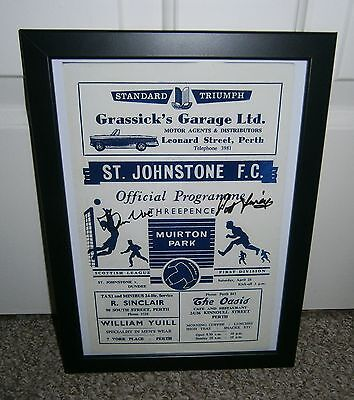 Dundee Fc Ian Ure And Pat Liney Signed 1962 Photo