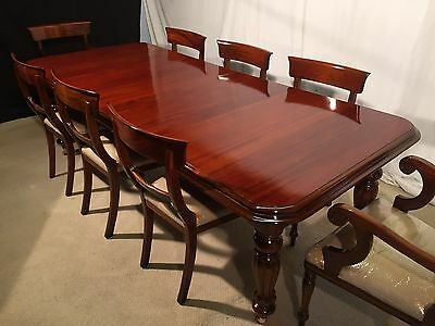 Stunning Grand Regency Style Mahogany Dining Set, Pro Hand French Polished