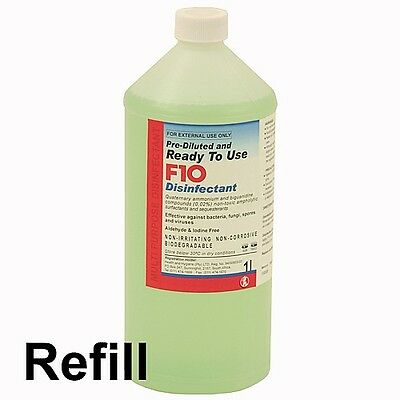 F10 Ready to Use Disinfectant REFILL 1 Litre Birds/Reptile/Dog Housing Cleaner