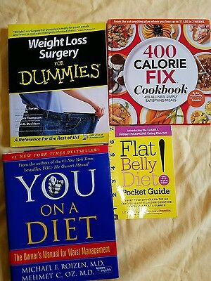 Weight Loss Surgery For Dummies, 400 Calorie cookbook, You on a diet, lot of 4