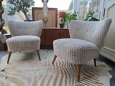 PAIR OF ORIGINAL 1960s VINTAGE EAST GERMAN BARTHOLOMEW COCKTAIL CHAIRS OC16-25