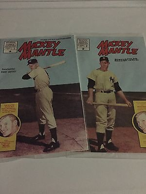 2 Mickey Mantle Comics New Sealed Bagged  2 Postcards Inside