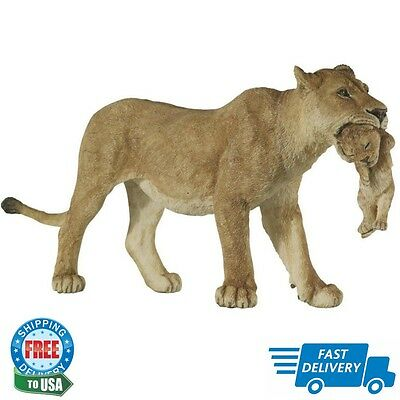 "Wild Animal Kingdom Figure Lioness w/ Cub Collectibles Durable 5.71""x1.38""x2.56"""