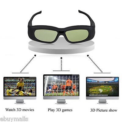 3D Bluetooth Rechargeable Active Shutter Glasses For Sony/Panasonic/Sharp 3DTV