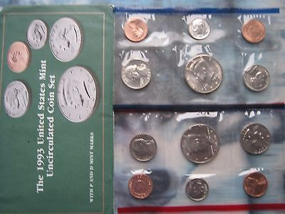 USA 1993 US UNC 2x 5 coin Sets 1 Cent - Half-Dollar P & D Mint marks sealed pack