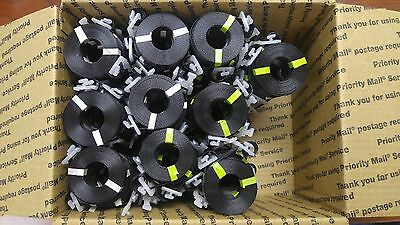 """100 NEW GEN Poly Straps Pre-Cut BLK 1/2"""" x 17' Buckle Strapping Shipping Banding"""