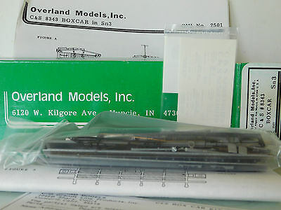 S/Sn3 Overland Models 4X C&S Boxcars #8343. 2X Unbuilt Kits 2X Part Built Kits
