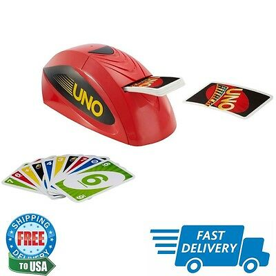 Uno Attack Card Game Play w/ Electroic Rapid Fire Card Holiday Christmas List