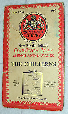 Ordnance Survey,New Popular Edition,The Chilterns,Sheet 159,1 inch to mile, 1947