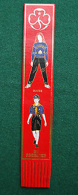 Girl Guides Leather Bookmark - Be Prepared - Vintage - Leather