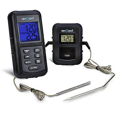 RenGard Dual Probe Digital Wireless Barbecue Cooking Thermometer RG-08
